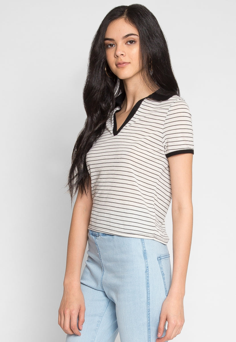 Back In Session Crop Polo - Shirts & Blouses - Wetseal