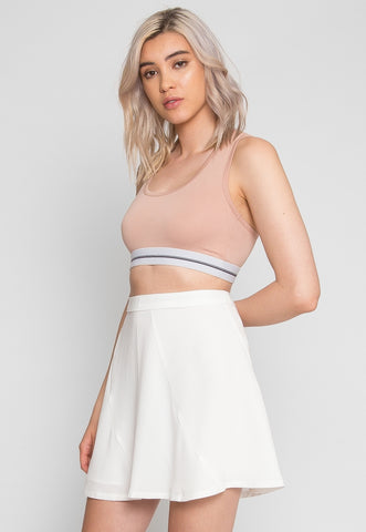 Cascade Mini Skirt in White