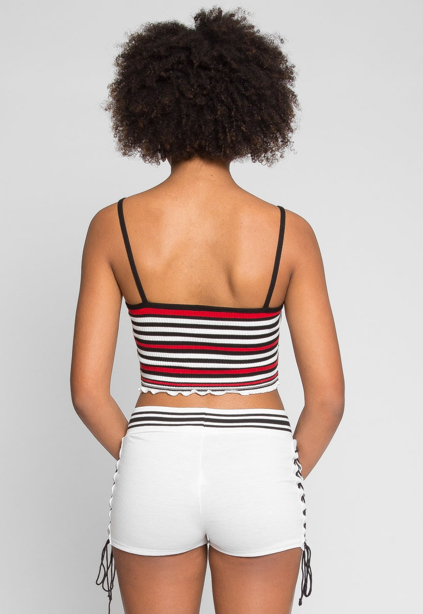 Go Go Stripe Crop Top in Red - Crop Tops - Wetseal