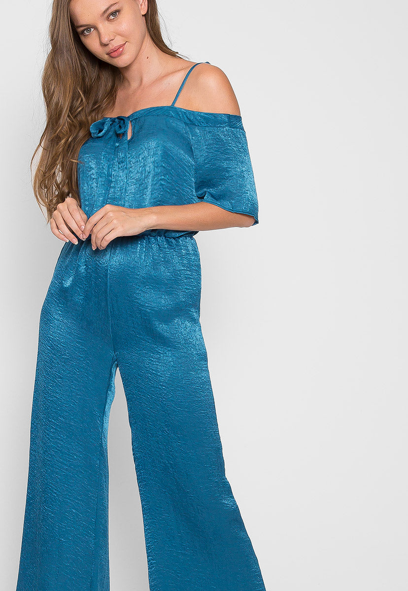 Glow Satin Jumpsuit - Rompers & Jumpsuits - Wetseal