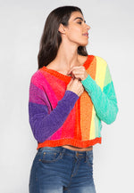 Like a Rainbow Chenille Stripe Sweater