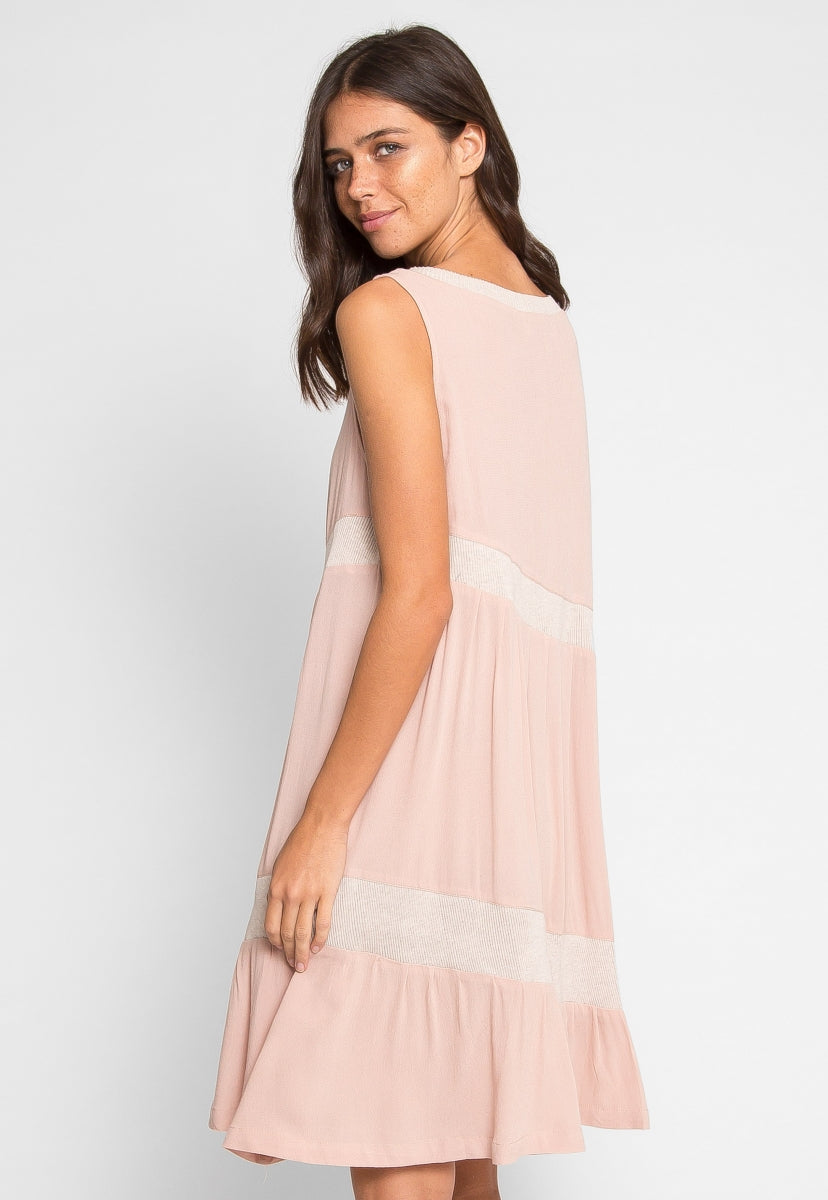 Birchleaf Knit Insert Flare Dress - Dresses - Wetseal