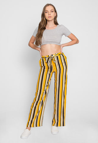 Sunsets High Waist Stripe Pants