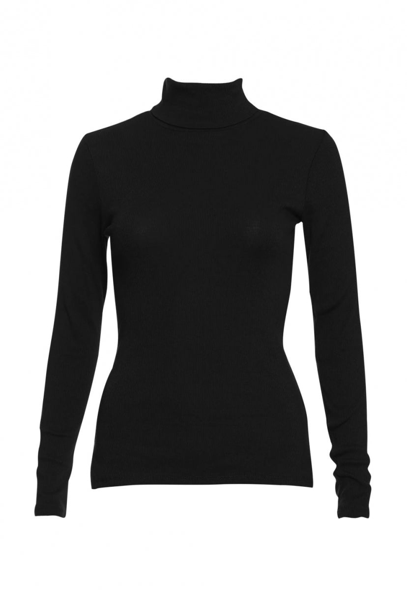 Hail Turtleneck Top in Black - Shirts & Blouses - Wetseal