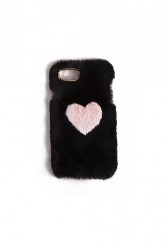 Fuzzy Heart Phone Case
