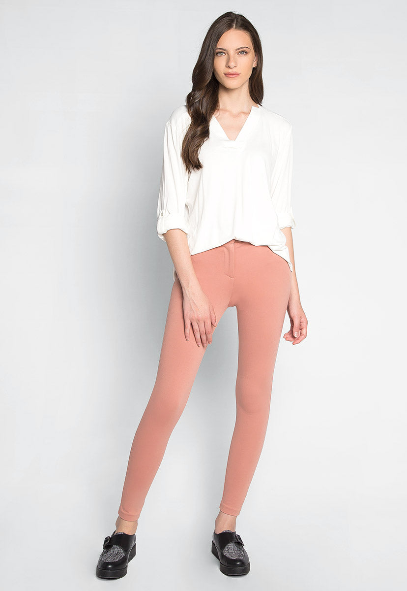 Nataly Roll Tab Sleeve Blouse in White - Shirts & Blouses - Wetseal