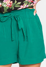 Skyline High Waist Shorts in Green
