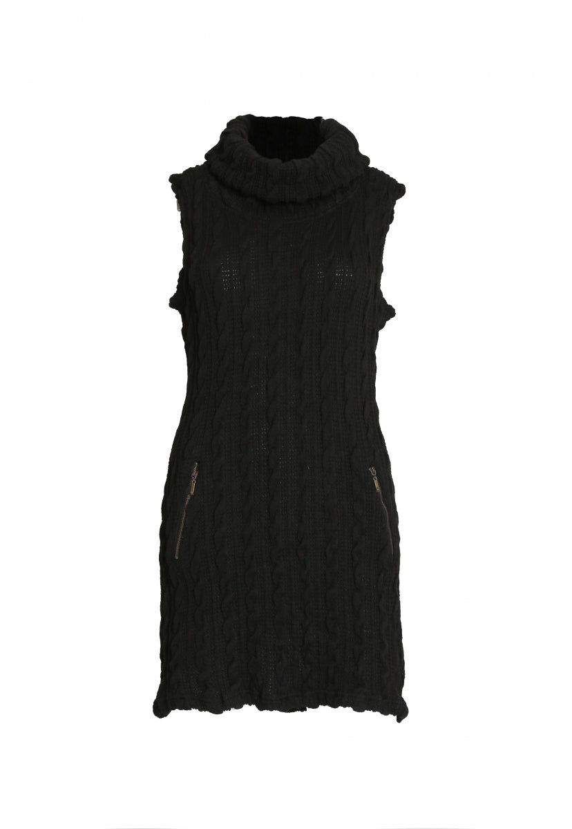 850ef48e68 Cable knit sweater dress in black | Wet Seal