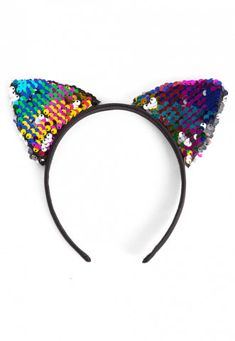 Multi Color Happy Trails Sequin Headband