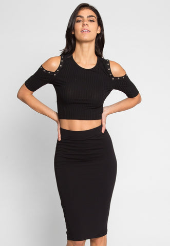 Totally Right Fitted Skirt in Black