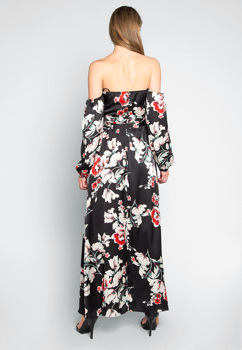 Kyoto Floral Printed Maxi Dress - Dresses - Wetseal