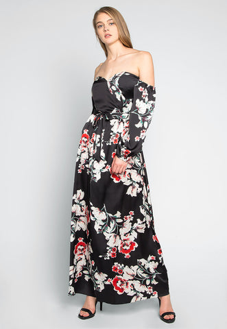 Kyoto Floral Printed Maxi Dress