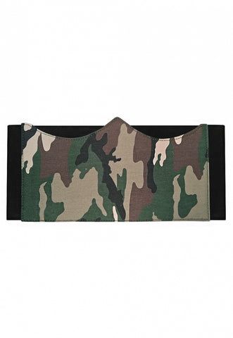 At Ease Camo Bustier Belt