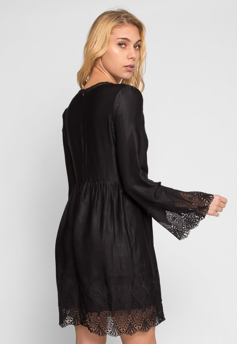 Royal Lace Inset Empire Dress - Set - Wetseal
