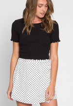 Clouds Above Polka Dot Wrap Skirt