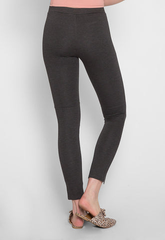 Stretch skinny pants in charcoal