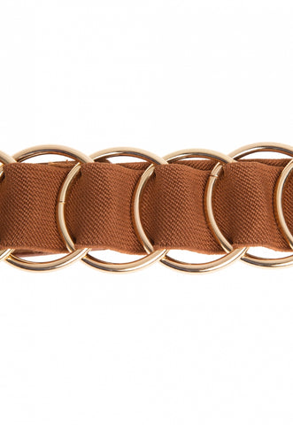 Connected Circle Buckle Belt
