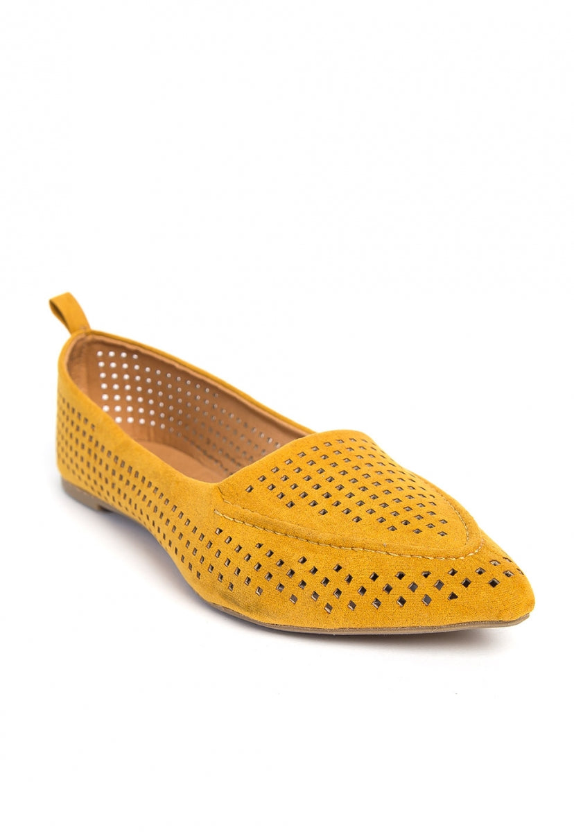 Capistrano Laser Cut Loafers - Shoes - Wetseal