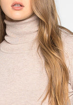 After Hours Turtleneck Sweater in Beige