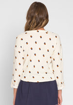Baxter Soft Knit Polka Dot Cardigan in Beige