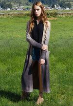 Sahara Ombre Faux Suede Duster Coat
