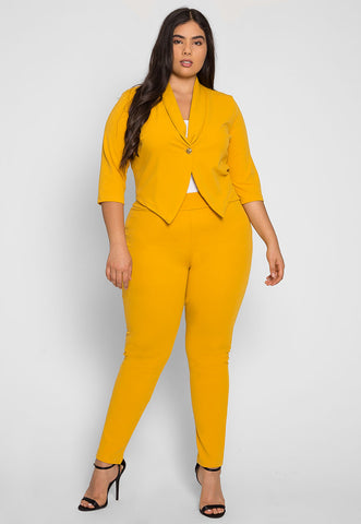 Plus Size Leader Girl Blazer and Pants Set