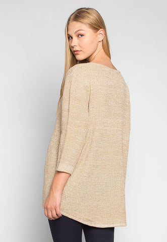 Italy Rib Knit V-Neck Oversized Cardigan