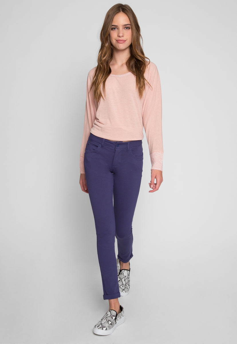 Bastille Ponte Knit Pants in Navy - Jeans - Wetseal