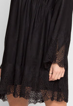 Royal Lace Inset Empire Dress