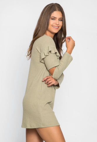 Milkshake Knit Dress in Sage