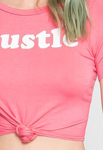 Same Hustle Graphic Tee in Pink