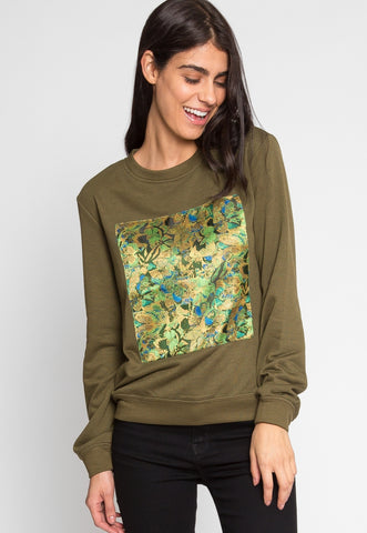 Abstract Sweatshirt in Olive