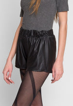ABBOT FAUX LEATHER SHORTS