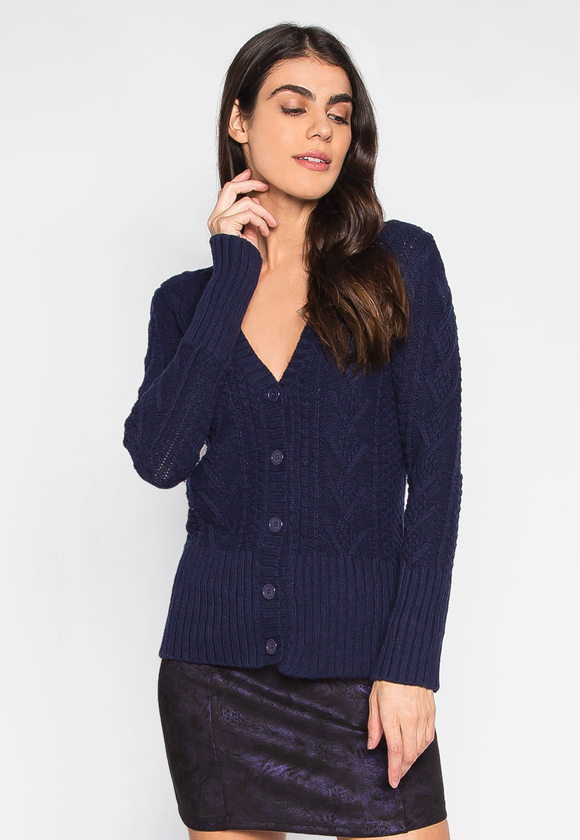 Sweet Like Honey Cable Knit Button Front Cardigan - Sweaters & Sweatshirts - Wetseal