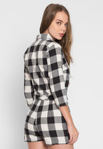 Only One Buffalo Plaid Romper