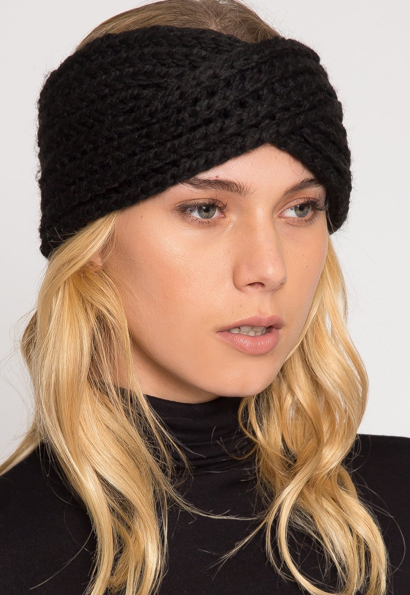 Timeless Ribbed Kint Headband in Black - Hat & Hair - Wetseal