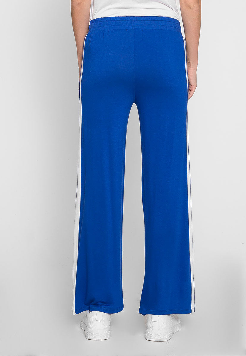 Sunny Day Wide Leg Joggers in Blue - Pants - Wetseal