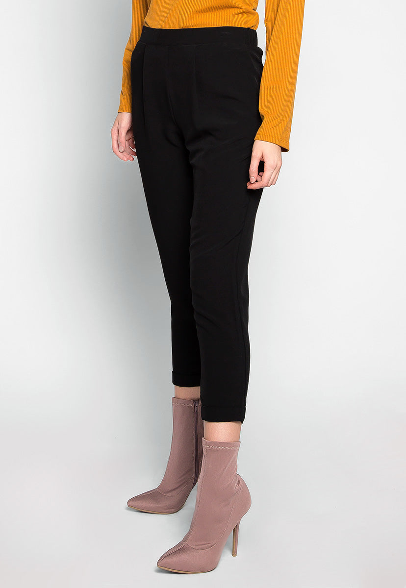 Never Stop Side Pockets Pants in Black - Pants - Wetseal