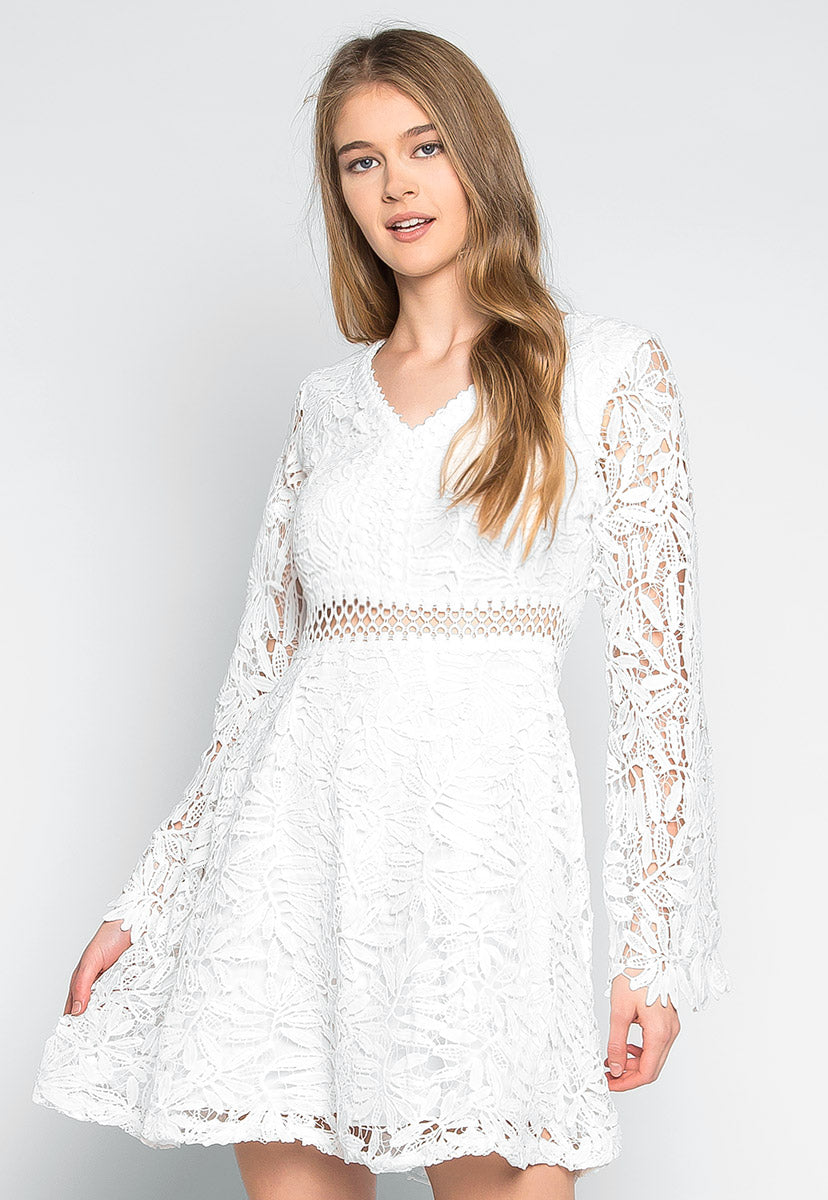 Giving Love Crochet Mini Dress - Dresses - Wetseal