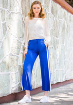 Sunny Day Wide Leg Joggers in Blue