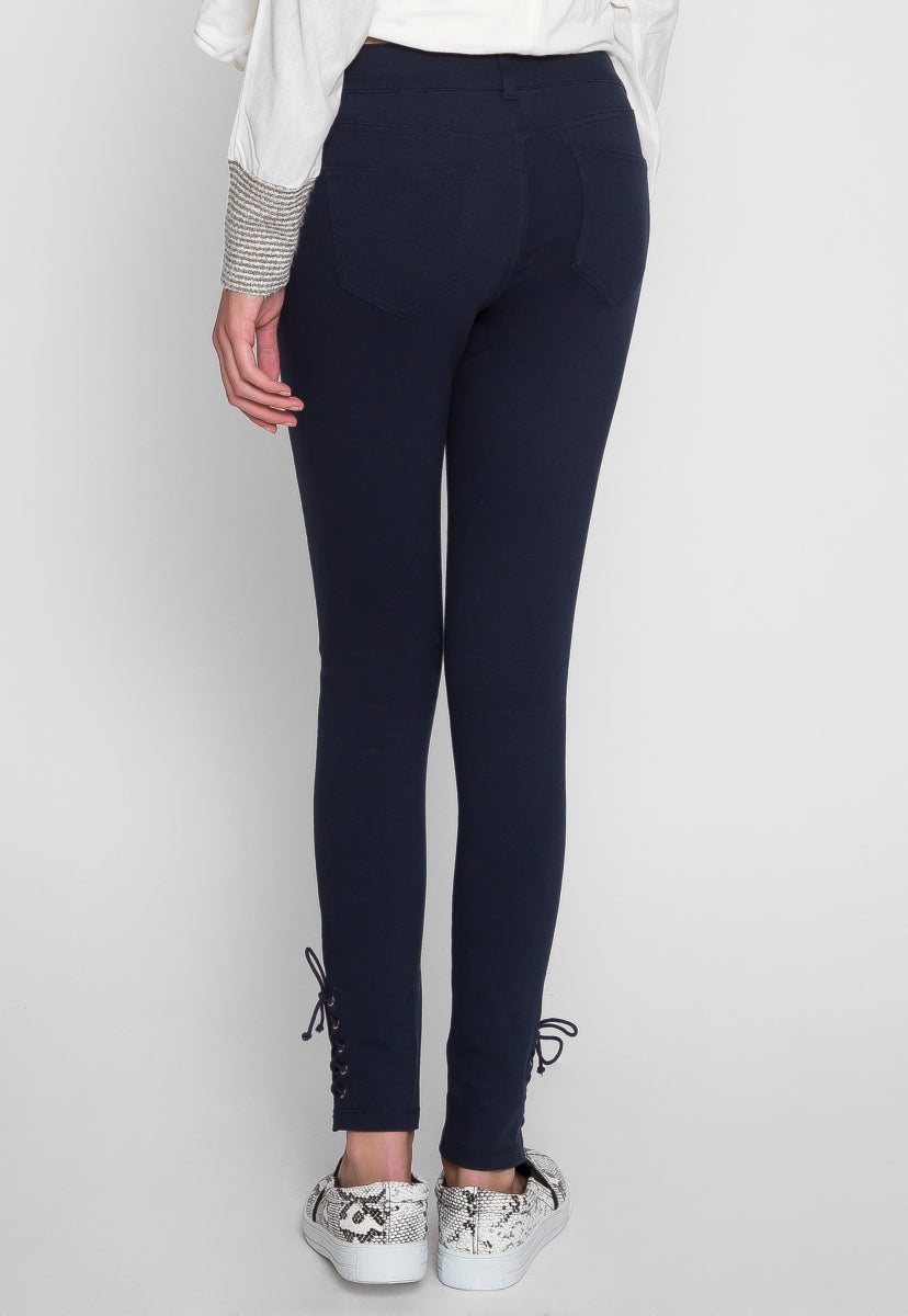 Over You Lace Up Hem Pants - Jeans - Wetseal