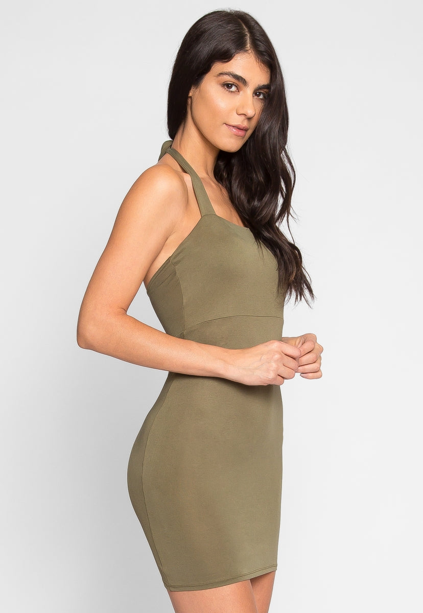 Bop Bodycon Dress in Olive - Dresses - Wetseal