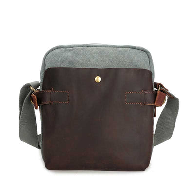 Crossbody canvas shoulder men's retro bag