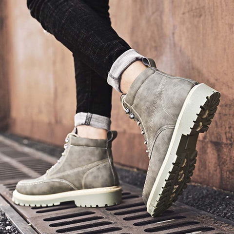 Autumn and winter new British wild fashion casual men's outdoor tooling Martin boots