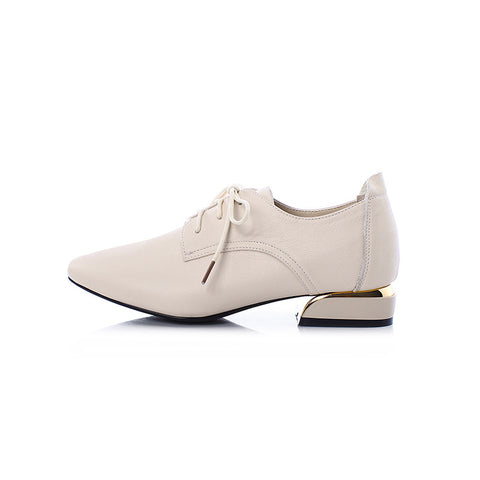 2019 autumn new style pointed soft leather women's shoes