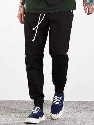 Lace-up men's slacks