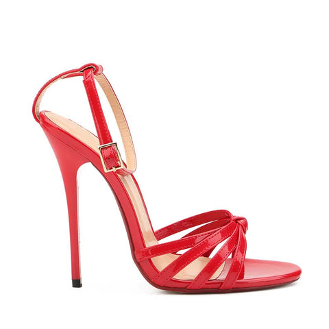 Summer buckle solid color sexy stiletto high heel sandals
