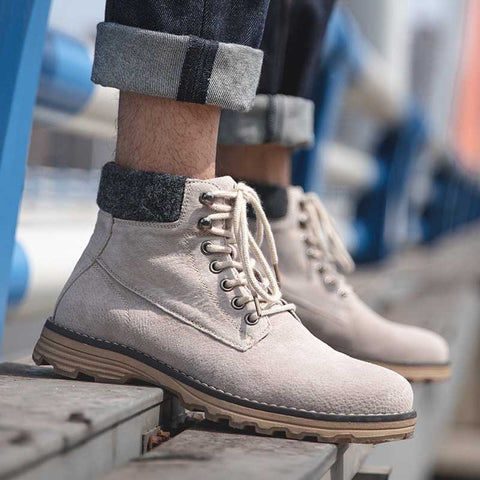 Breathable British style wild trend boots in the men's boots