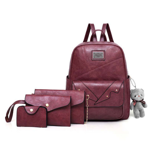 2020 new popular women's retro PU suit backpack