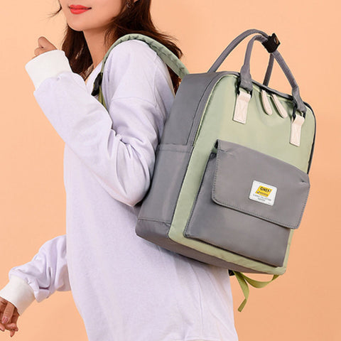 2020 New European Style Pure Color Oxford Women's Backpack